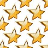 Golden stars seamless festive pattern Stock Photo