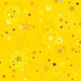Golden Stars seamless pattern swatch tile Royalty Free Stock Image