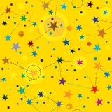 Golden Stars seamless pattern swatch tile Stock Photo