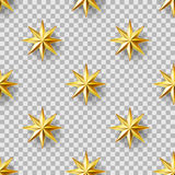 Golden Stars seamless pattern Royalty Free Stock Images
