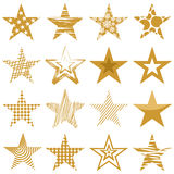 Golden stars Royalty Free Stock Photos
