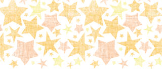 Golden stars textile textured horizontal seamless Royalty Free Stock Photo