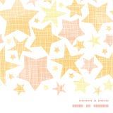 Golden stars textile textured horizontal seamless Royalty Free Stock Photography