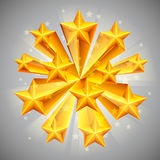 Golden stars. Stock Image
