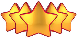 Golden stars top level Royalty Free Stock Images