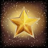 Golden stars vector sparkling gold background design with star f. Rame Stock Image