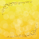 Golden stars wallpaper Stock Photo