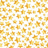 Golden stars on white, seamless pattern. A lot of golden stars on white background, seamless pattern Royalty Free Stock Image