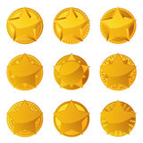 Golden Stars With Copy Space Royalty Free Stock Image