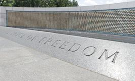Golden Stars World War II Memorial Stock Image