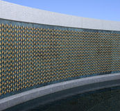 Golden stars at world war II memorial stock photo