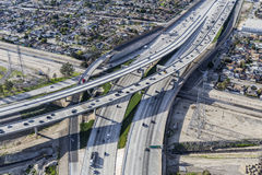 Golden State 5 and Hollywood 170 Freeway Interchange Aerial Stock Photos