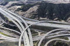 Golden State 5 and Route 14 Interchange Los Angeles Royalty Free Stock Photos
