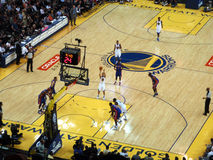 Golden State Warriors Player Stephen Curry shoots free throw sho Stock Images