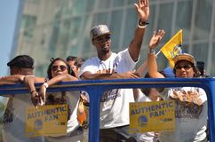 Golden State Warriors Victory Parade. In Oakland California After Winning The NBA Basketball Finals Championship Over Cleveland Stock Photos