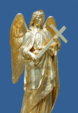 Golden statue of angel Stock Photo