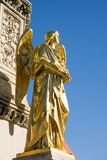 Golden statue of angel stock image