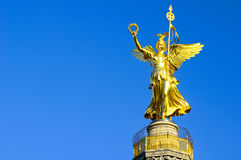 Golden statue berlin Royalty Free Stock Photo