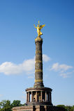 Golden statue in Berlin Royalty Free Stock Photo