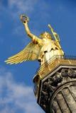 Golden statue in Berlin Stock Photos