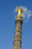 Golden statue in Berlin Stock Image