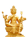 Golden statue of Brahma isolated with clipping path. Stock Photography