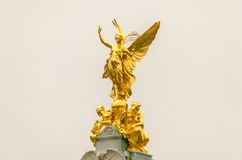 Golden Statue at Buckingham Palace, Stock Photography