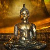 Golden Statue of Buddha Stock Photography