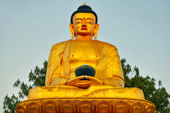 Golden Statue of Buddha Stock Image
