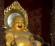 Golden statue of Buddha-- southern Xian (Sian, Xi'an), China Royalty Free Stock Photography