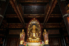 Golden statue of Buddha-- southern Xian (Sian, Xi'an), China Stock Photography