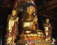 Golden statue of Buddha-- southern Xian (Sian, Xi'an), China Stock Images
