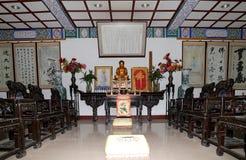 Golden statue of Buddha-- southern Xian (Sian, Xi'an), China Royalty Free Stock Image