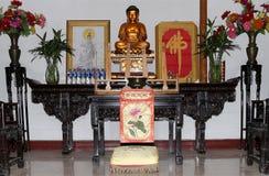 Golden statue of Buddha-- southern Xian (Sian, Xi'an), China Royalty Free Stock Photography