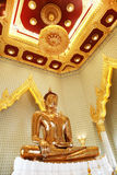 Golden Statue of Buddha at Wat Traimit in Bangkok Royalty Free Stock Photography
