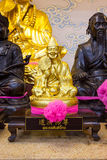 Golden statue of a Chinese god Royalty Free Stock Photography