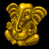 Golden statue of an elephant, one object closeup Stock Photos