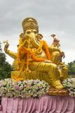 Golden statue of Ganesha royalty free stock photos