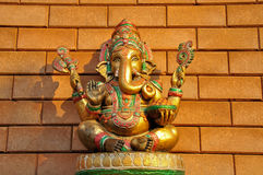 Golden statue of Ganesha at the temple. The statue of Ganeshain the temple royalty free stock photography