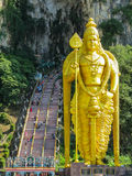 Golden statue of hindu god Lord Murugan Royalty Free Stock Image