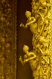 Golden statue Human Thai style decoration Stock Photography