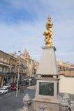 Golden Statue on the island of Malta Stock Photos