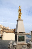 Golden Statue on the island of Malta Stock Image