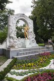 Golden statue of Johann Strauss Royalty Free Stock Photo