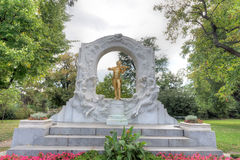 Golden statue of Johann Strauss Royalty Free Stock Image