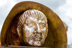 Golden statue of Julius Ceasar Royalty Free Stock Images