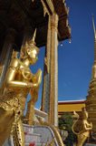 Golden statue of Kinare at Wat Phra Kaew in The Grand Palace, thailand Stock Images