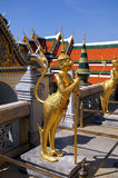 Golden statue of mythical crea royalty free stock photos