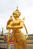 Golden Statue of Mythical Creature Royalty Free Stock Photos