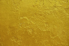 Golden statue painted Royalty Free Stock Photo